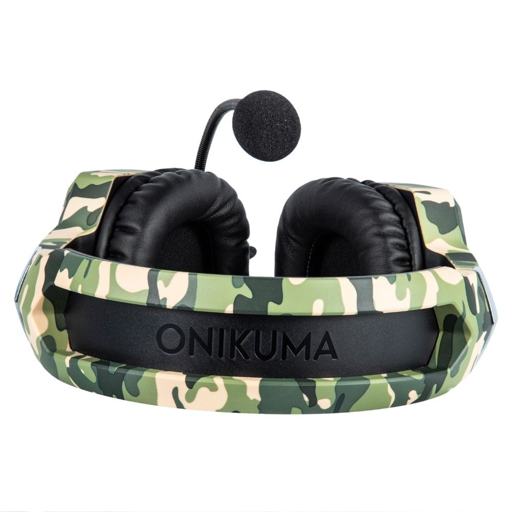 ONIKUMA K8 PS4 Headset Camouflage casque Wired PC Gamer Stereo Gaming Headphones with Microphone LED Lights for XBox One/Laptop