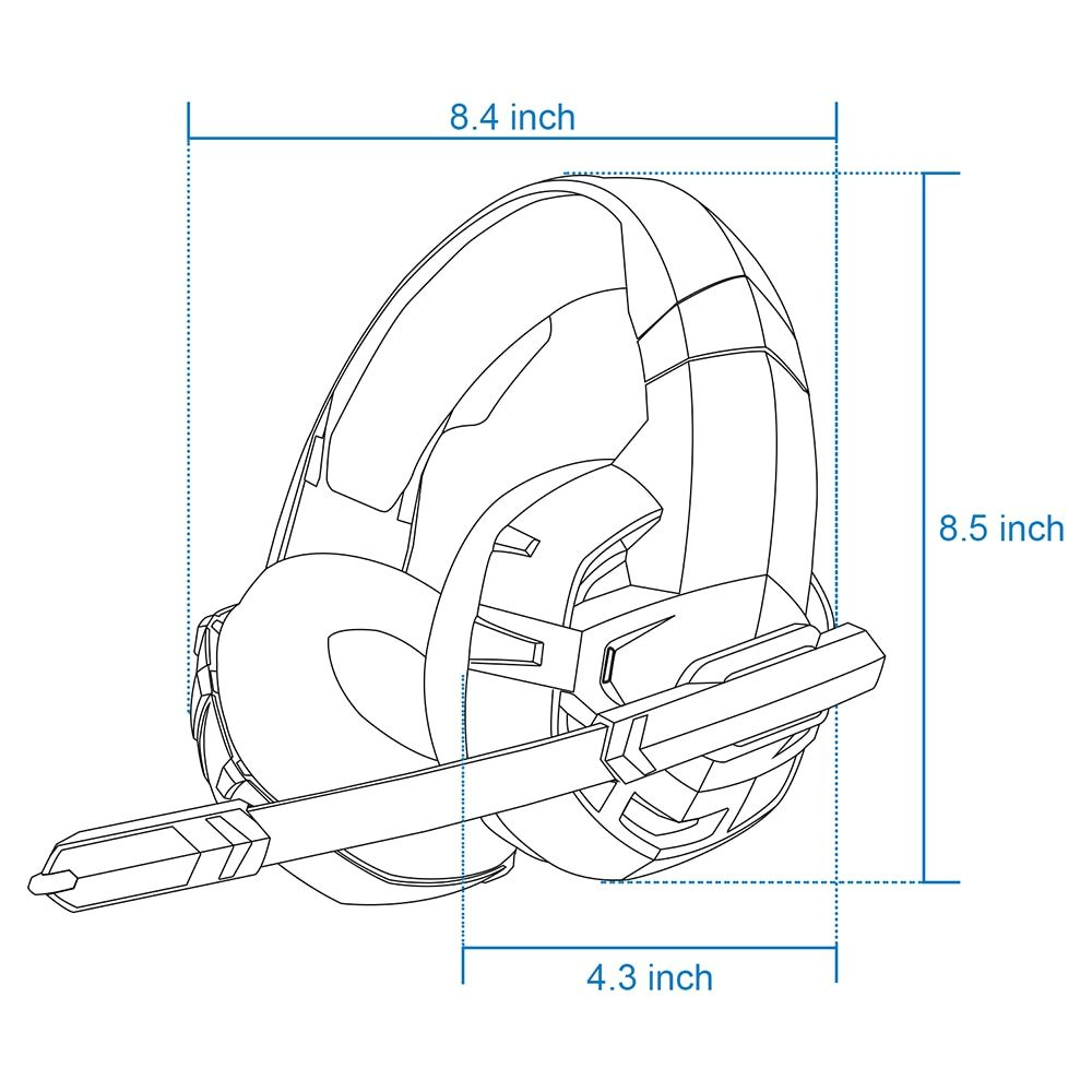 Onikuma K2A Gaming Headphones Wired Stereo PS4 Gaming Headset Casque Gamer Headset With Mic For PC Xbox One /Laptop LED Lights
