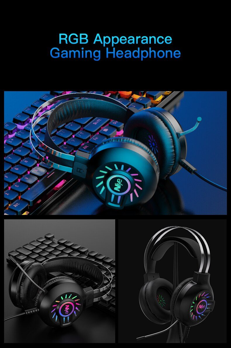 USB Gaming Headphone Headset Gamer Wired USB PC Computer 7.1 Surround Sound Bass Stereo Sealed Ear Wire Headset Mic Laptop