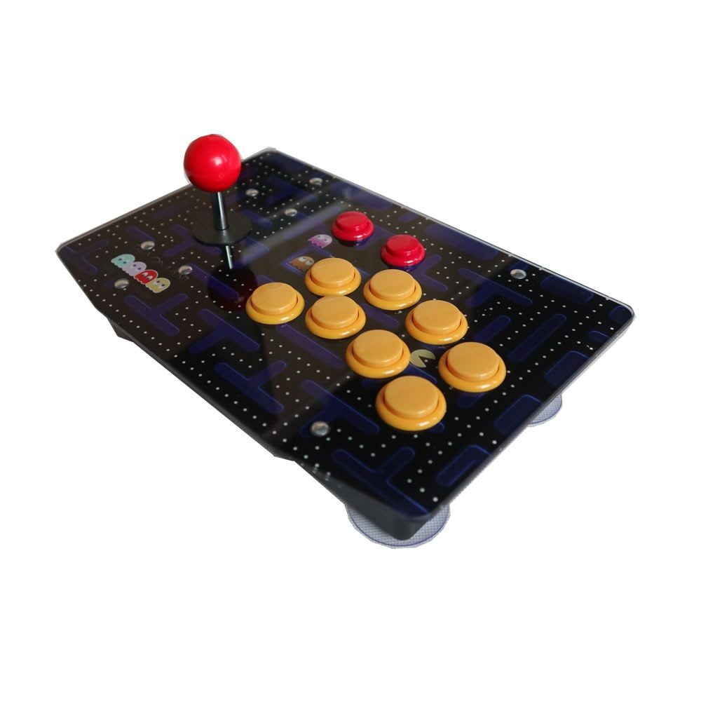 RAC-J500S Fully Customized PC USB 10 Buttons Arcade Joystick Wired Games Controller Acrylic Artwork Panel