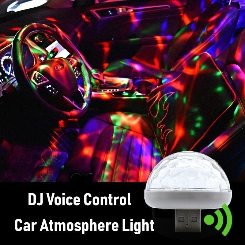 2020 NEW Multi Color USB LED Car Interior Lighting Kit Atmosphere Light Neon Colorful Lamps Interesting Portable Accessories