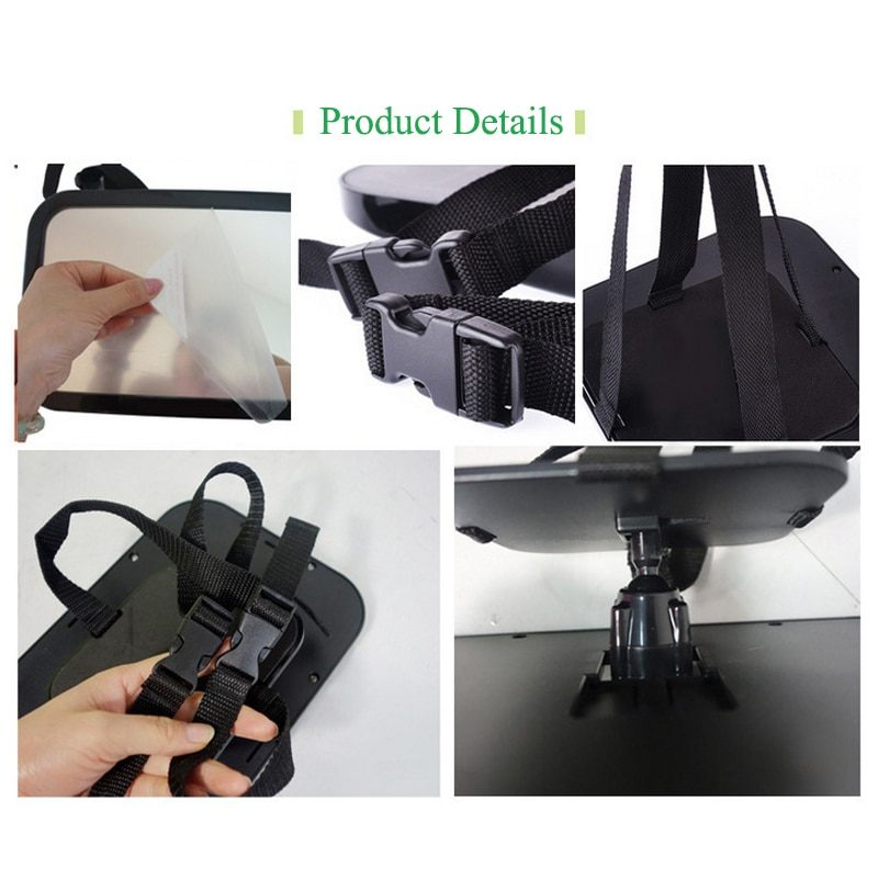 Baby Car Mirror Adjustable Car Back Seat Rearview Facing Headrest Mount Child Kids Infant Baby Safety Monitor Accessories