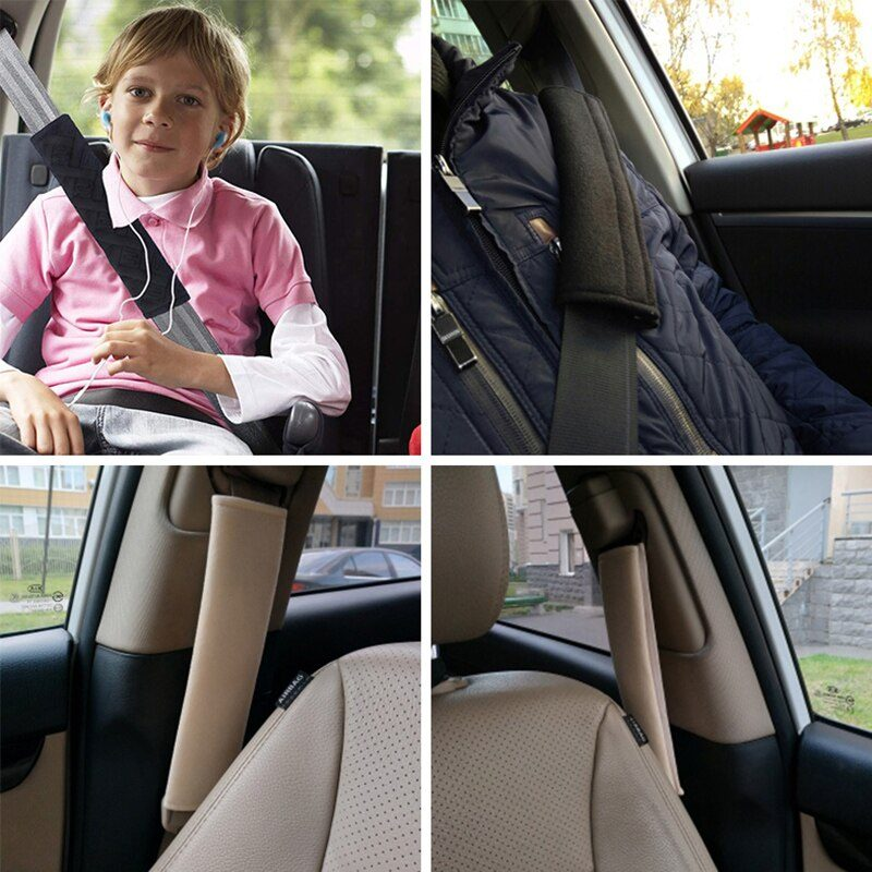 Universal Car Seat Shoulder Strap Pad Cushion Cover Car Belt Protector Seatbelt Cover for Adults Kids Car Accessories Interior