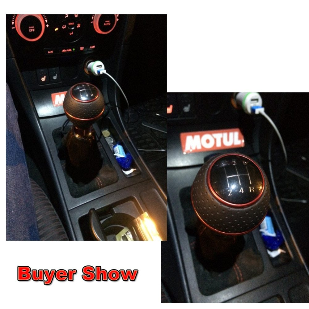 Styling Gear Shift Knob 5 Speed Gear Head Handle Shifter Lever Stick Car Part Accessories