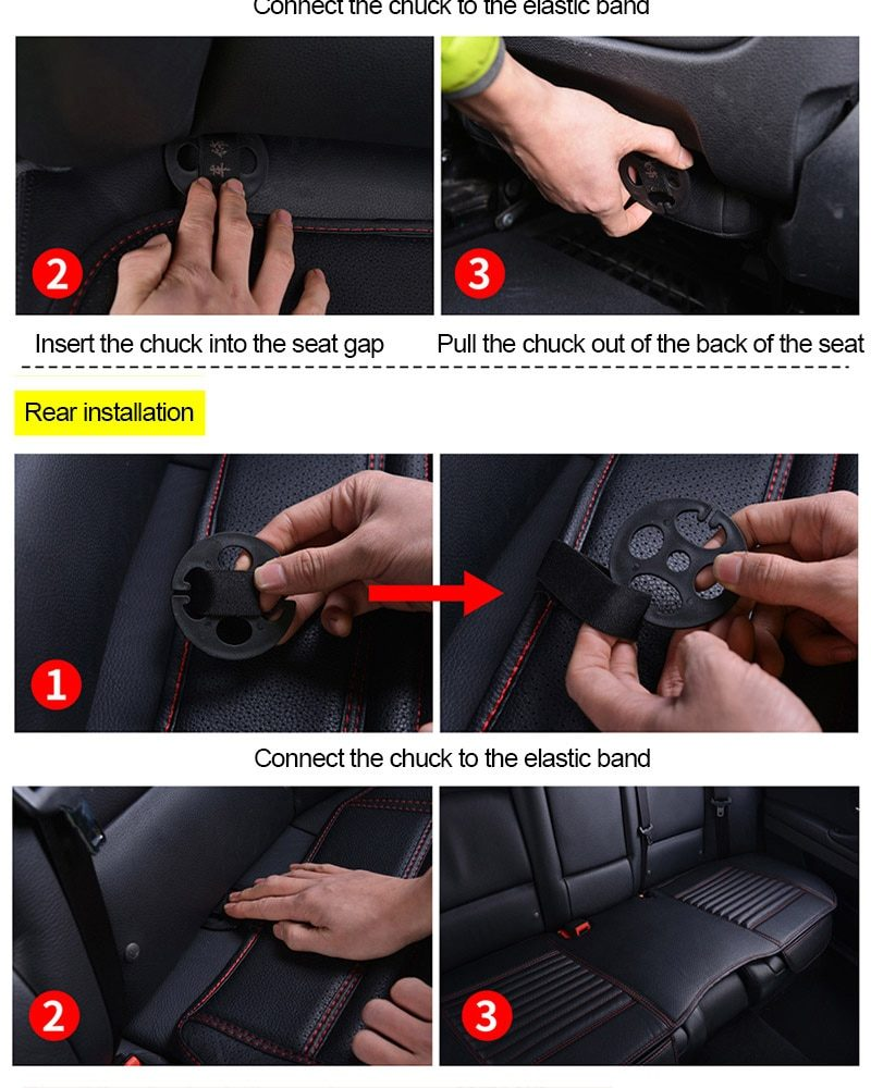 Four Seasons Car Seat Cover PU Leather Cars Seat Cushion Automobiles Seat Protector Universal Car Chair Pad Mat Auto Accessories