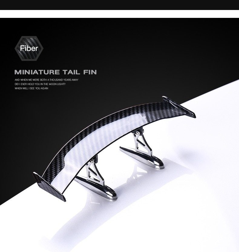 Universal Carbon fiber Stying pattern Car Tail Wing Spoiler Mini Automotive Decoration Small Model Auto Stickers Car Accessories