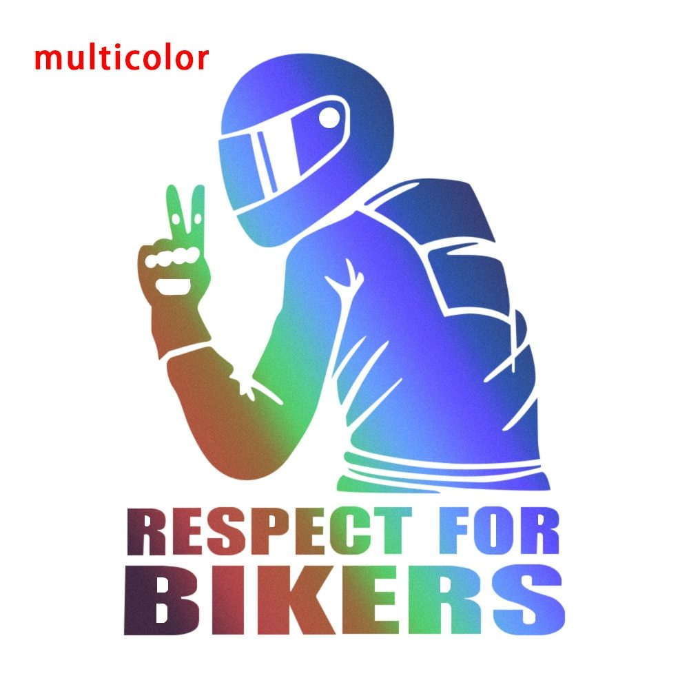 3D Respect For Bikers Car Sticker Waterproof Reflective Sticker Decal Funny JDM Vinyl Bike Motorcycle Car Styling Decoration