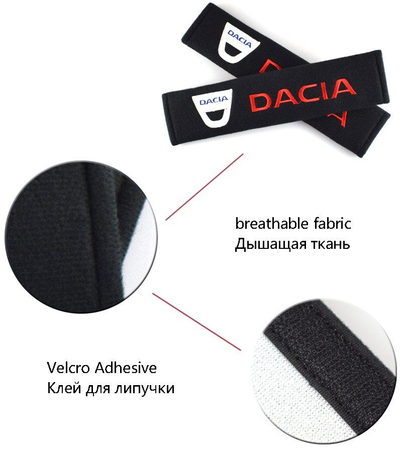 Seat Belt Cover Auto Car Styling Case For Dacia Duster Logan Sandero Lodgy Stepway Mcv 2 Accessories Cotton Car-Styling 2pcs/lot