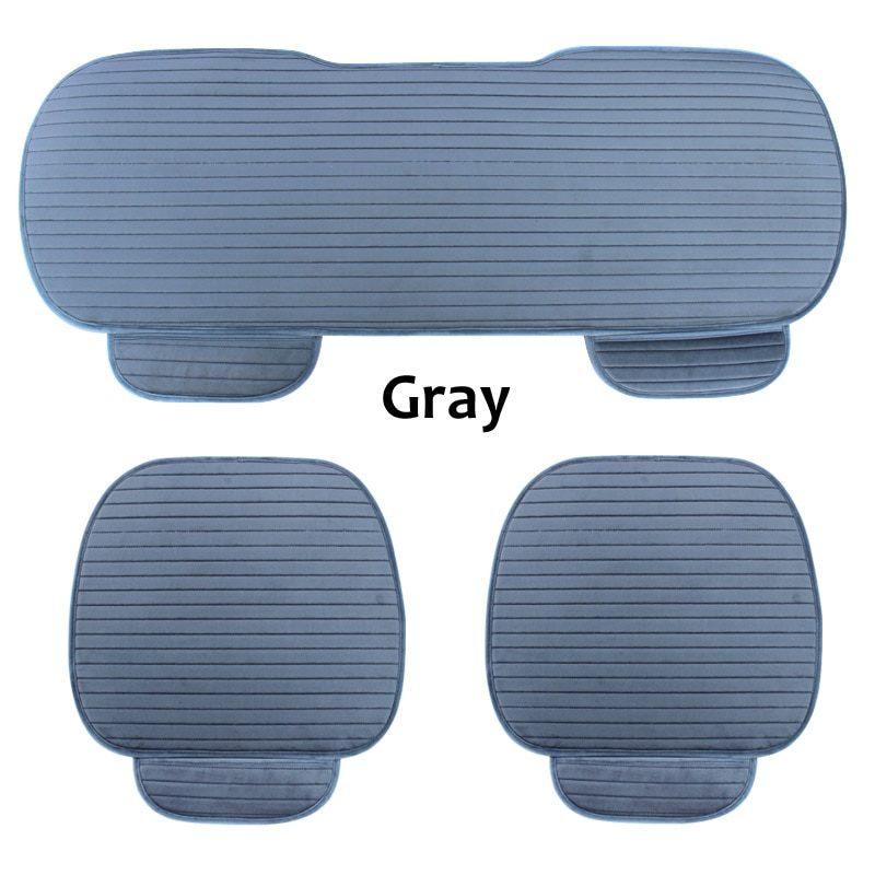 Car Seat Cover Front Rear Flocking Cloth Cushion Non Slide Auto Accessories Universa Seat Protector Mat Pad Keep Warm in Winter