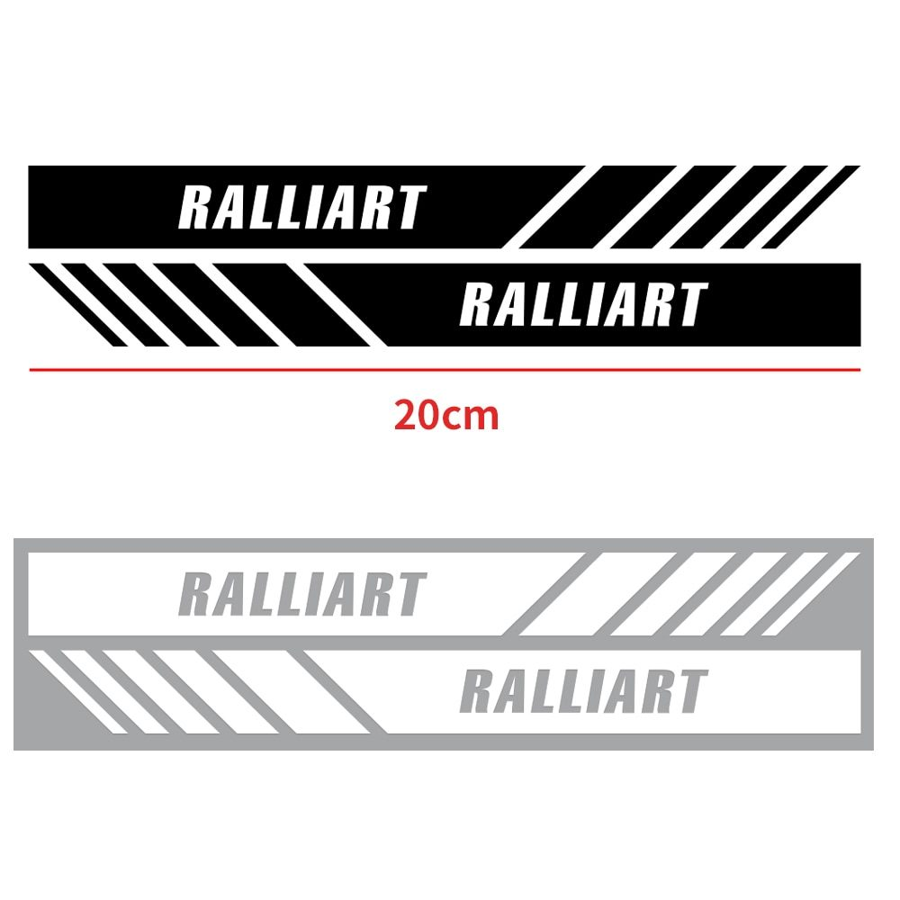 2pcs Waterproof car rearview mirror sticker For mitsubishi Ralliart lancer asx outlander pajero l200 Car styling accessories