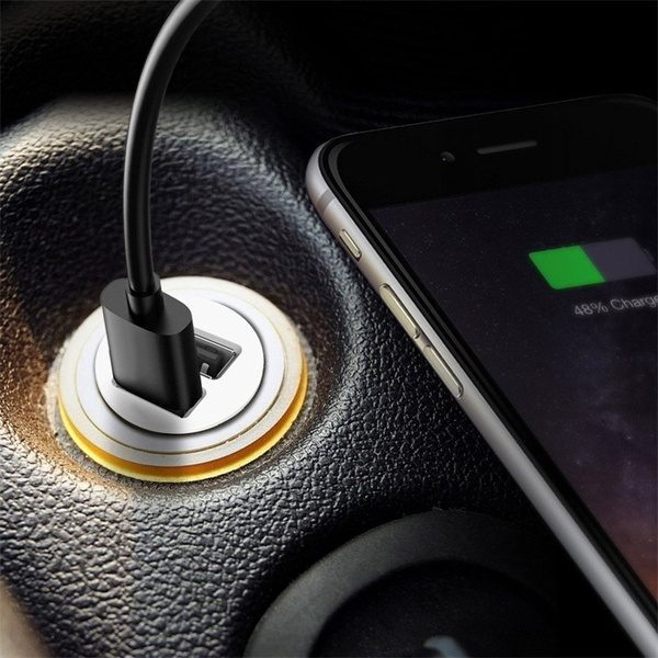 New 12V Power Dual 2 Port USB Mini Bullet Car Charger Adapter for Phone Car Accessories