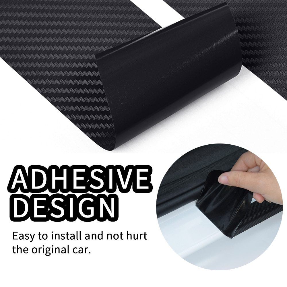 Car Trunk Guard Plate Carbon Fiber Protector Stickers For Dacia Duster Logan Sandero Lodgy MCV Stepway Car Styling Accessories