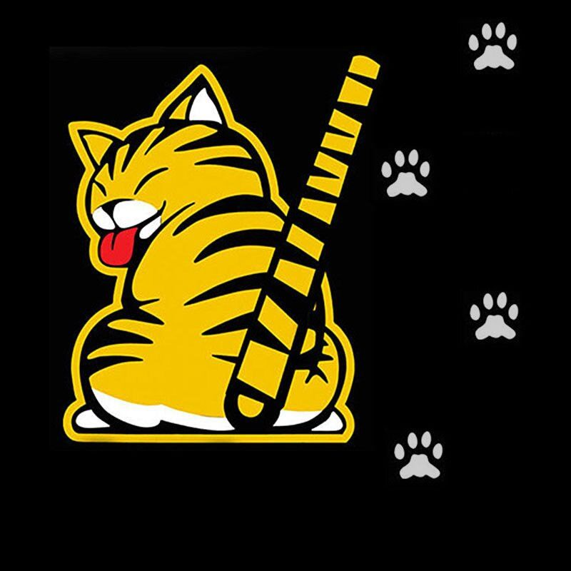 Creative Cat Moving Tail Paws Car Stickers Windshield Rear 3D Window Wiper Cartoon Car Decal Stickers Funny Exterior Accessories