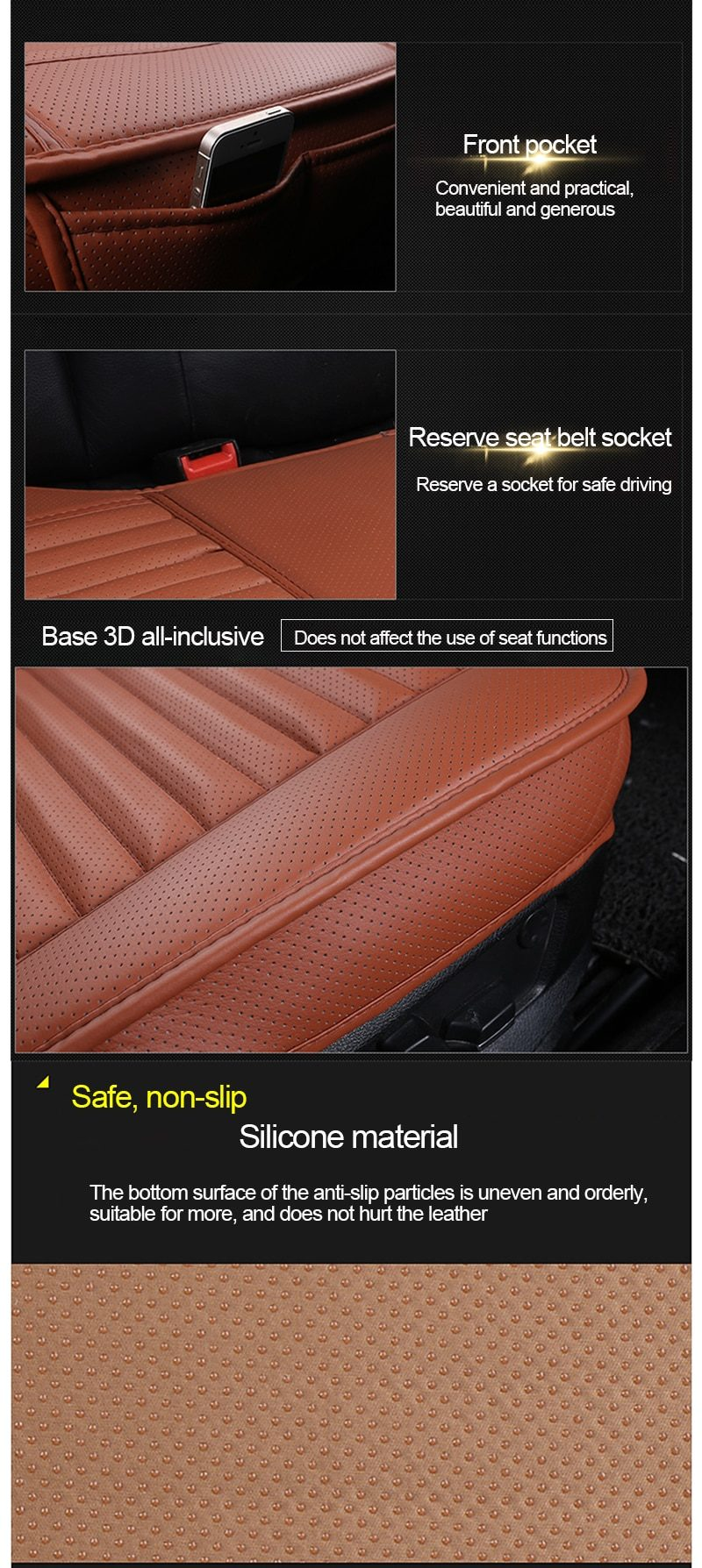 Car Seat Covers Universal PU Leather Seat Cover Four Seasons Automobiles Covers Cushion Auto Interior Accessories Mat Protector
