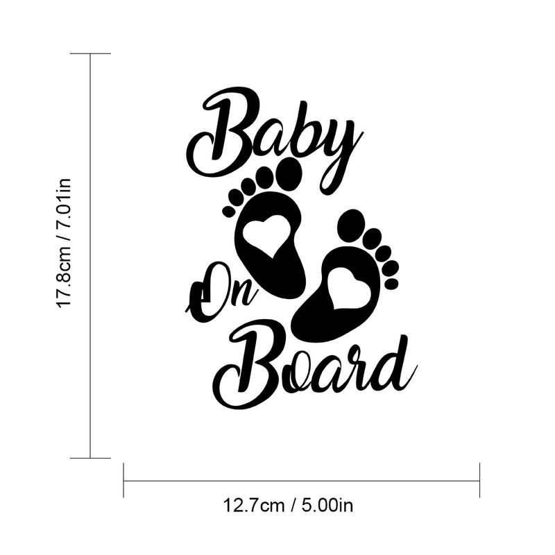 Cute BABY ON BOARD Car Stickers Window Wall Door Motorcycle Car Decals and Stickers For Car Styling Auto Exterior Accessories