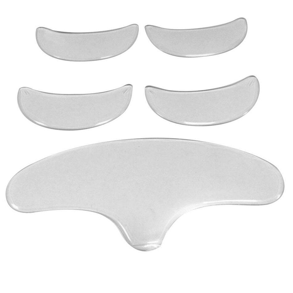 5pcs Silicone Anti Wrinkle Stickers Patch Eye Chin Forehead Skin Care Pads Silicone Reusable Face Overnight Invisible Patches