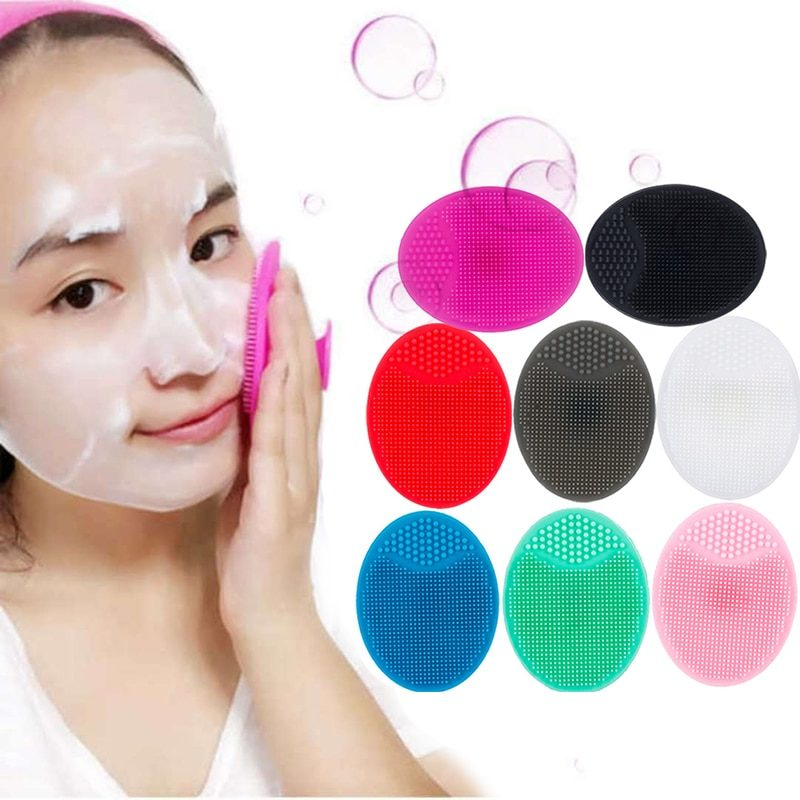 Silicone Face Cleansing Brush Facial Deep Pore Skin Care Scrub Cleanser Tool New Mini Beauty Soft Deep Cleaning Exfoliator