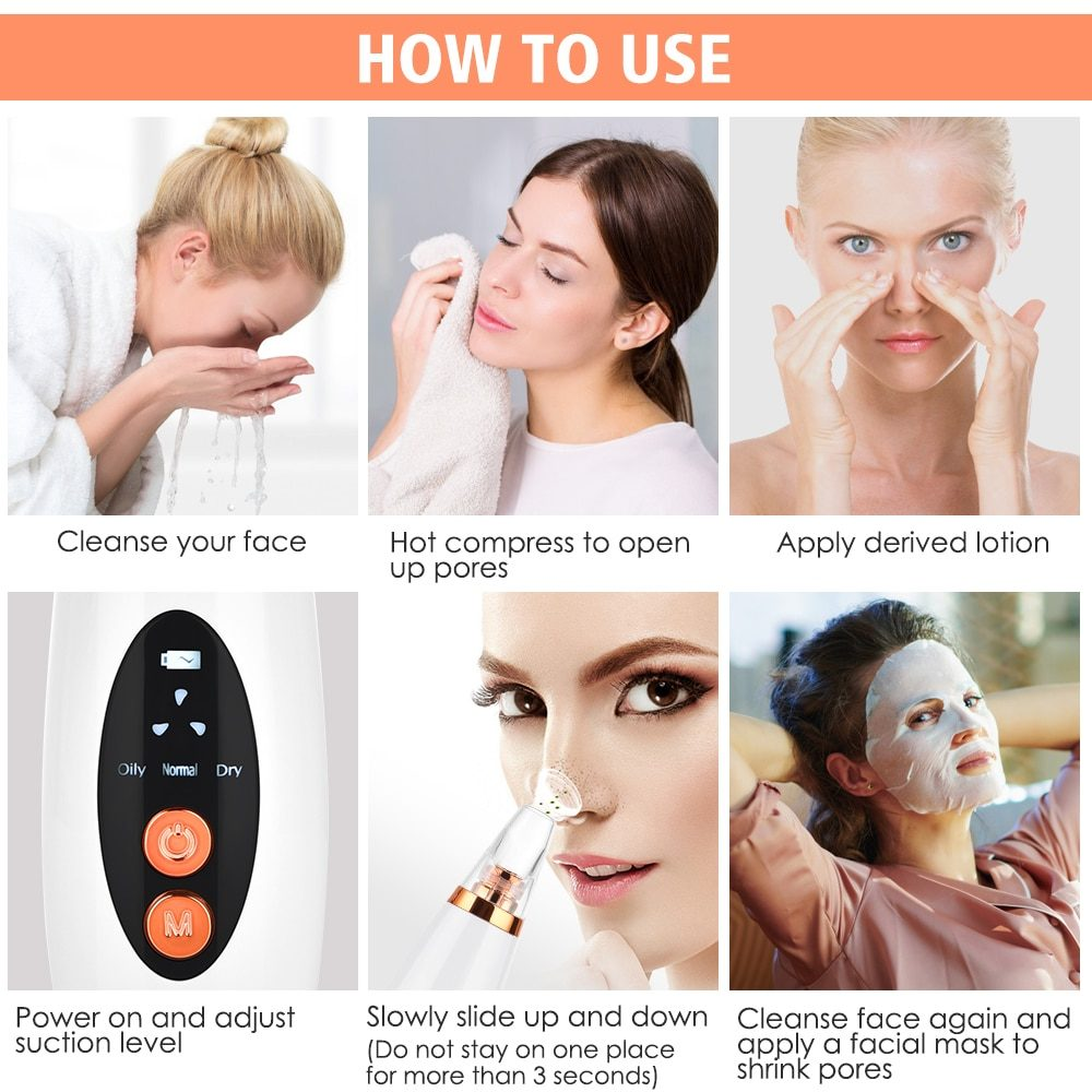 Pore Cleaner Blackhead Remover Vacuum Electric Nose Face Deep Cleansing Skin Care Machine Birthday Gift Dropshipping Beauty Tool