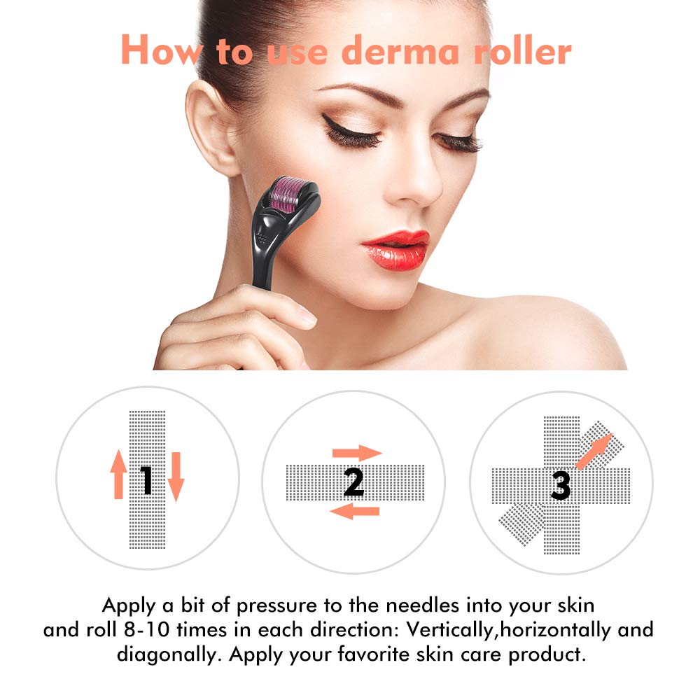 Healthy Care 540 Derma Roller needle Instrument for Face 0.2mm.25mm.3mm - Titanium Needles Skin Care Tool