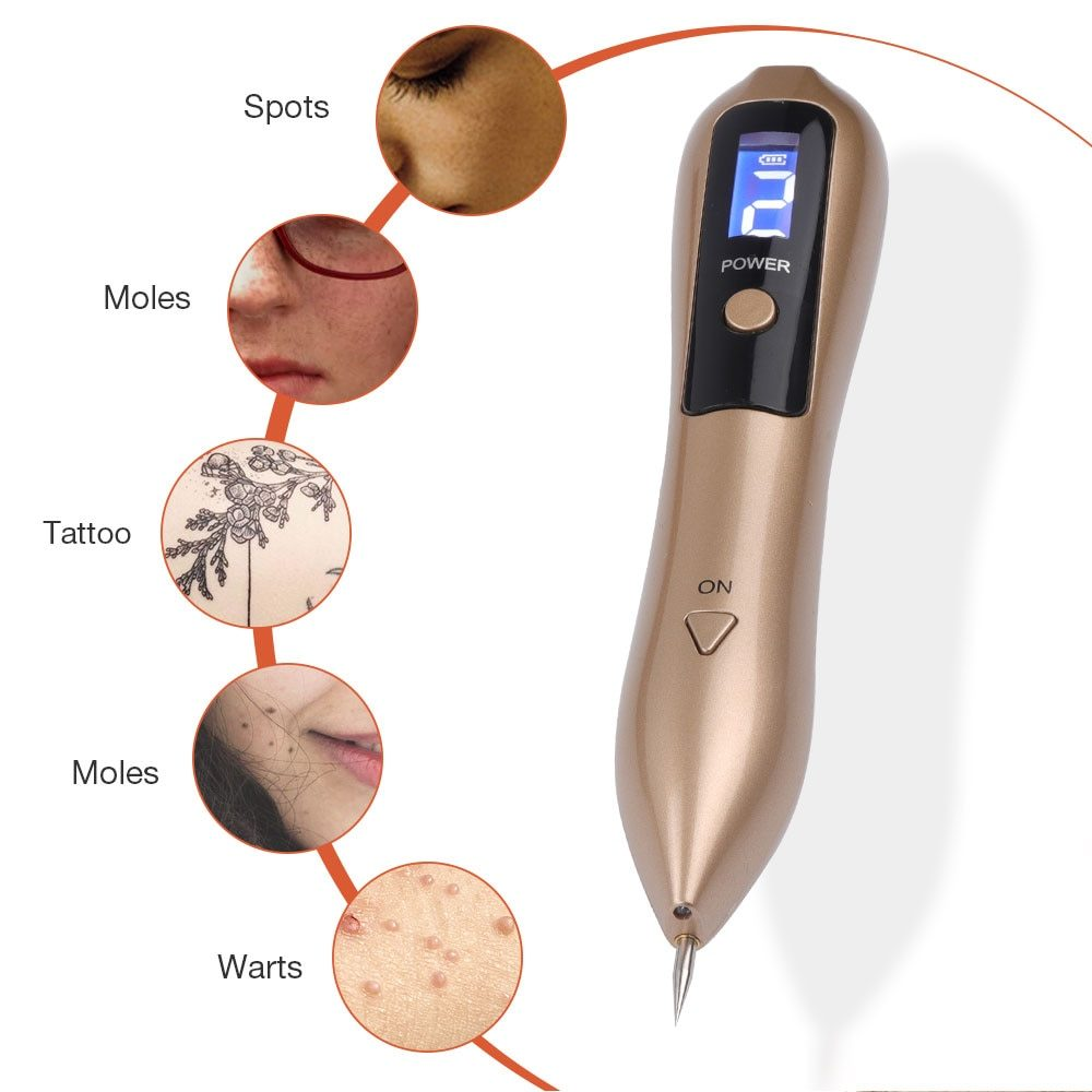 LCD Plasma Pen LED Lighting Laser Tattoo Mole Removal Machine Face Care Skin Tag Removal Freckle Wart Dark Spot Remover