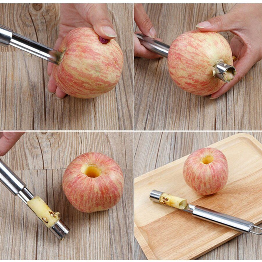 2020 Creative 1Pcs Stainless Steel Twist Fruit Core Seed Remover Hawthorn Jujube Pear Apple Corers Seeder Kitchen Gadgets Tools