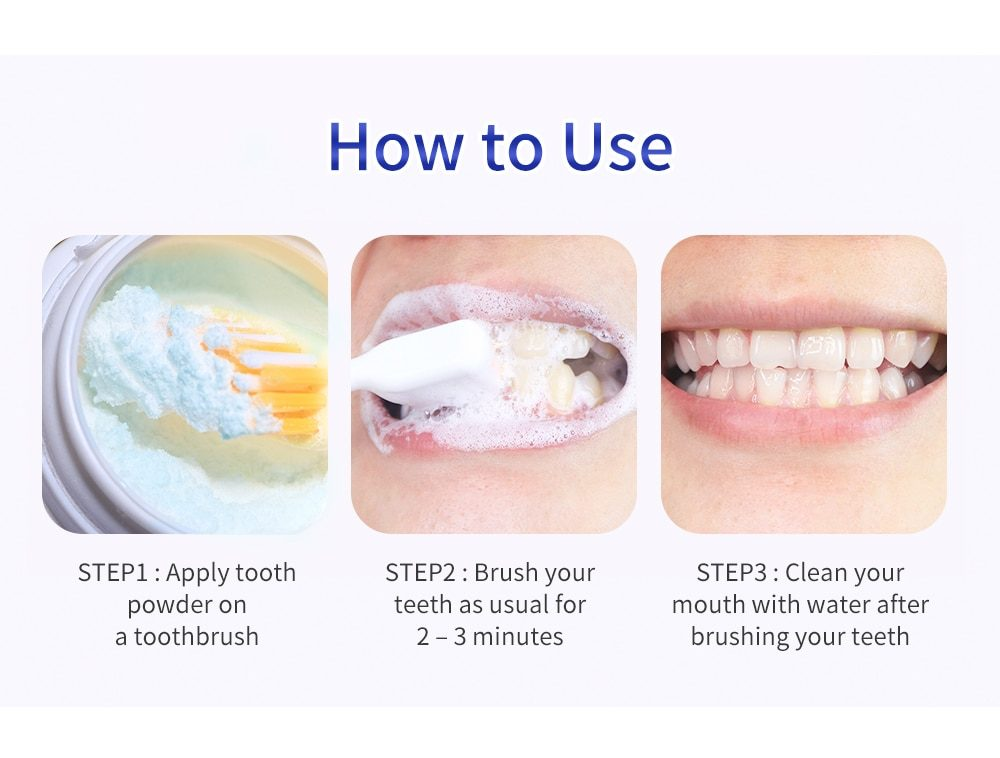 BREYLEE Teeth Whitening Powder Pearl Essence Natural Dental Toothpaste Toothbrush Kit Oral Hygiene For Remove Stains Plaque 30g
