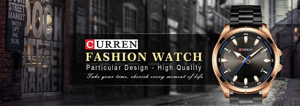 CURREN Stainless steel Men's Watches Simple Quartz Wristwatch Military Army Clock Male Relogio Masculino