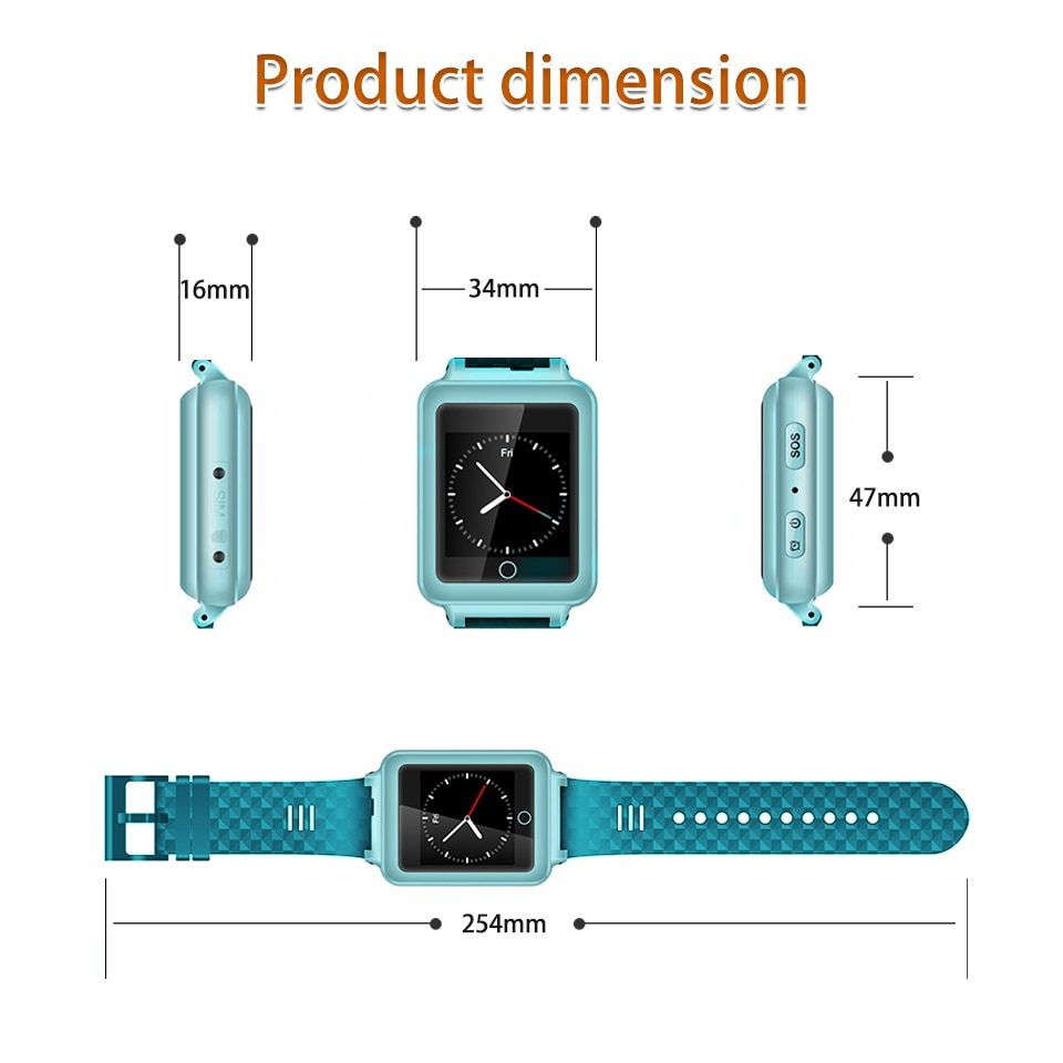 Mobile Phone V38 GPS Tracker Watch For Elderly Children SOS Bracelet Remote Monitor Long Standby Time Two-way Call Step Counting