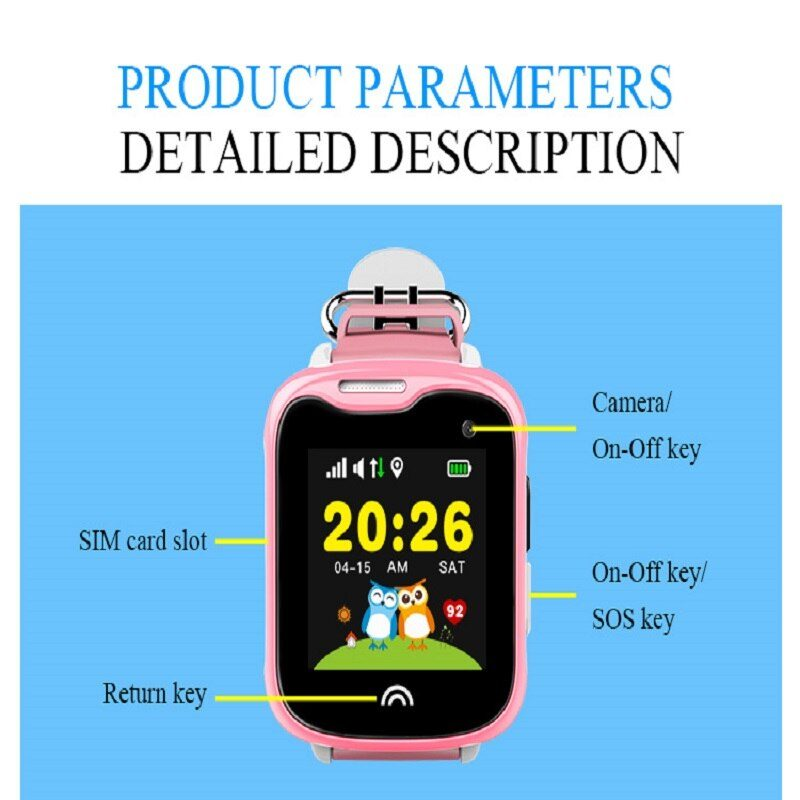 Smart GPS WIFI Tracker Locator Anti-Lost Watch For Kid Elder Child Student Positioning Device SOS Call Location Finder Locator