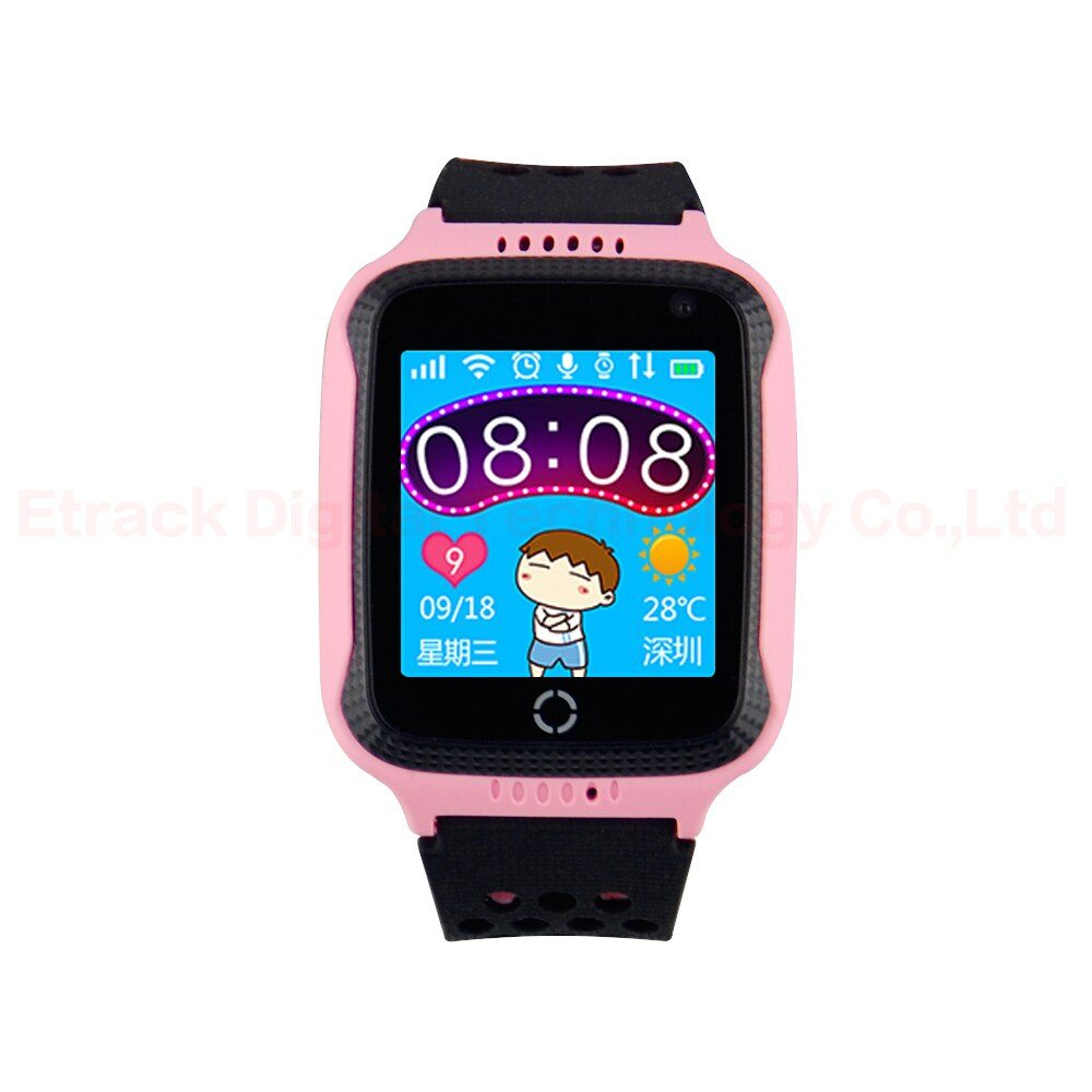 GPS Tracker Q528 GPS Smart Watch With Flashlight Baby Watch Touch Screen SOS Call Location Device Tracker for Kid Safe Anti-Lost
