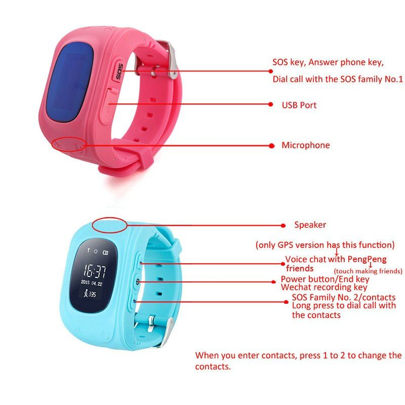 Anti Lost Kids Smart Watch Child GPS Tracker SOS Monitor Positioning Phone GPS Baby Watch IOS Android s9 watch