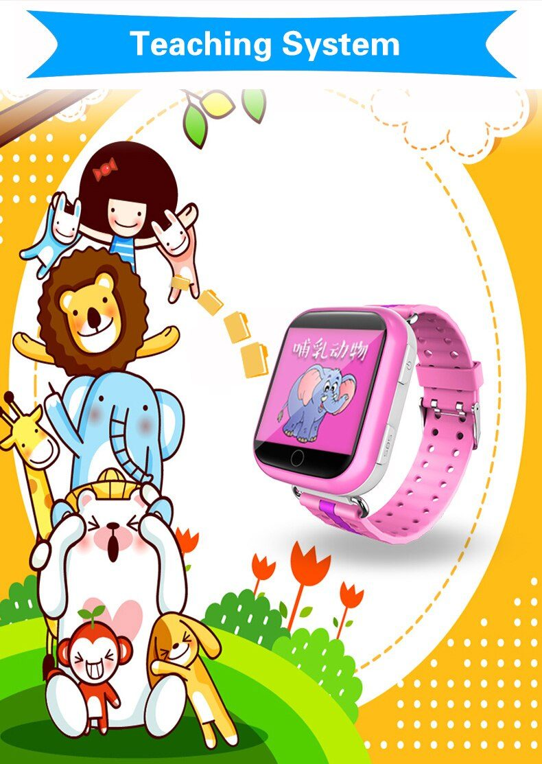 Colorful GPS Smart Watch/Tracker Q100 With Wifi 1.54 inch Touch Screen SOS Call Location Device Tracker for Kid/Children
