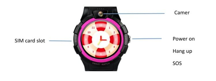 DW18S kid Smart watch GPS tracker Camera Waterproof IP67 Low power alarm SOS GPRS real-time positioning tracking monitoring