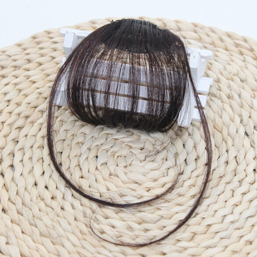 1pcs High Quality Hair Clips Fringe Hair Pieces False Synthetic Hair On The Clips Front Neat Bang Good Hair Styling Accessories