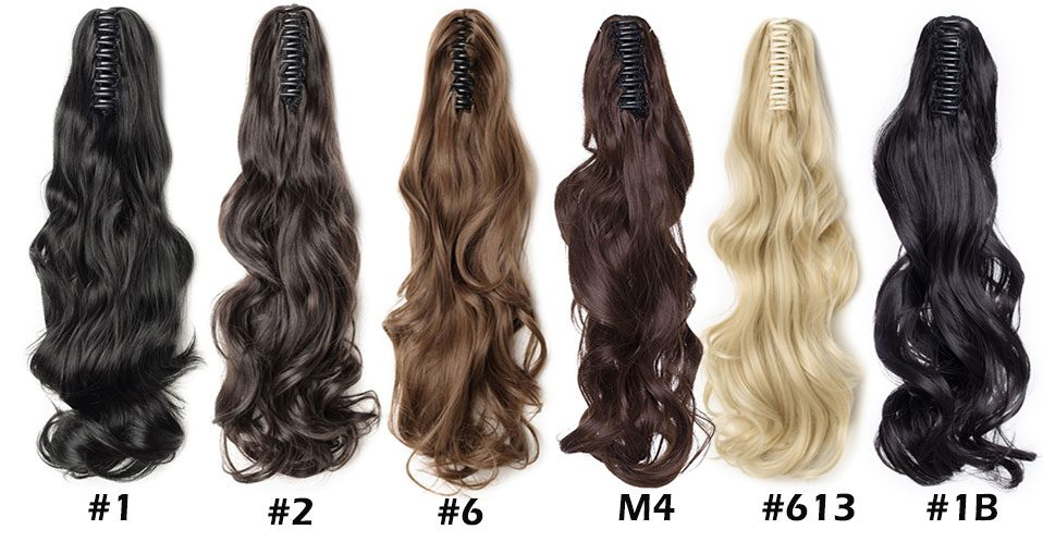 S-noilite 12-26inch Claw Clip On Ponytail Hair Extension Synthetic Ponytail Extension Hair For Women Pony Tail Hair Hairpiece