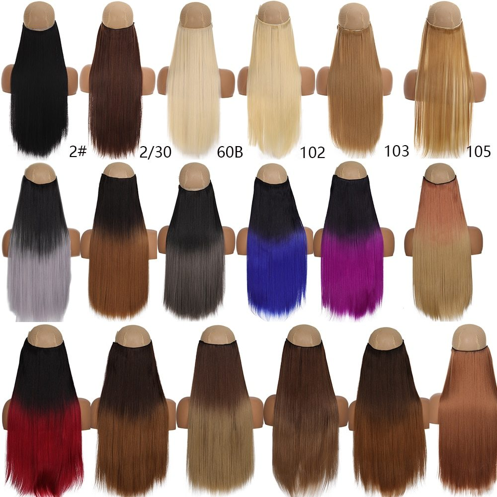 TALANG 60cm 5 Clip In Hair Extension Heat Resistant Fake Hairpieces Long Wavy Hairstyles Synthetic Clip In On Hair Extensions