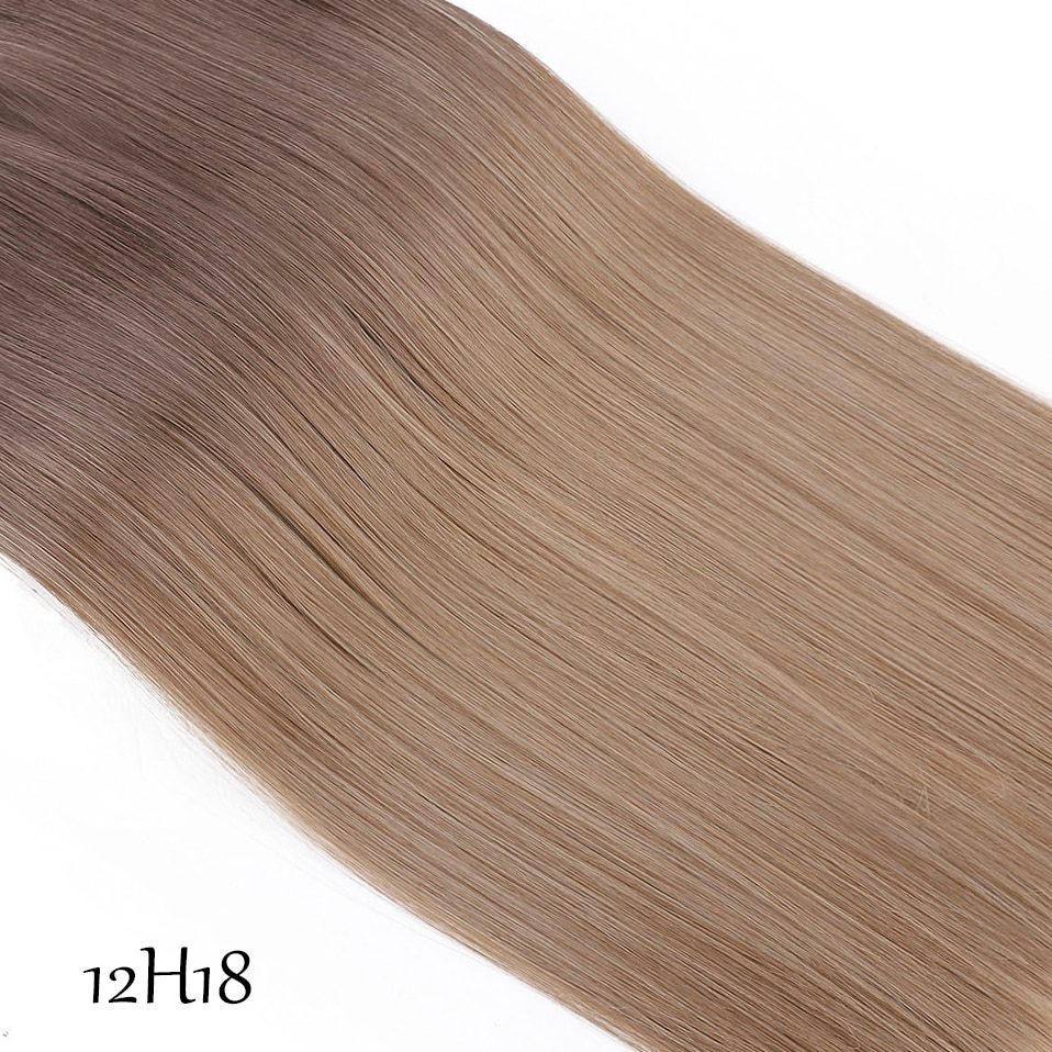 SNOILITE 20 inches Long Synthetic Hair Heat Resistant Hairpiece Fish Line Wavy Hair Extensions Secret Invisible Hairpieces