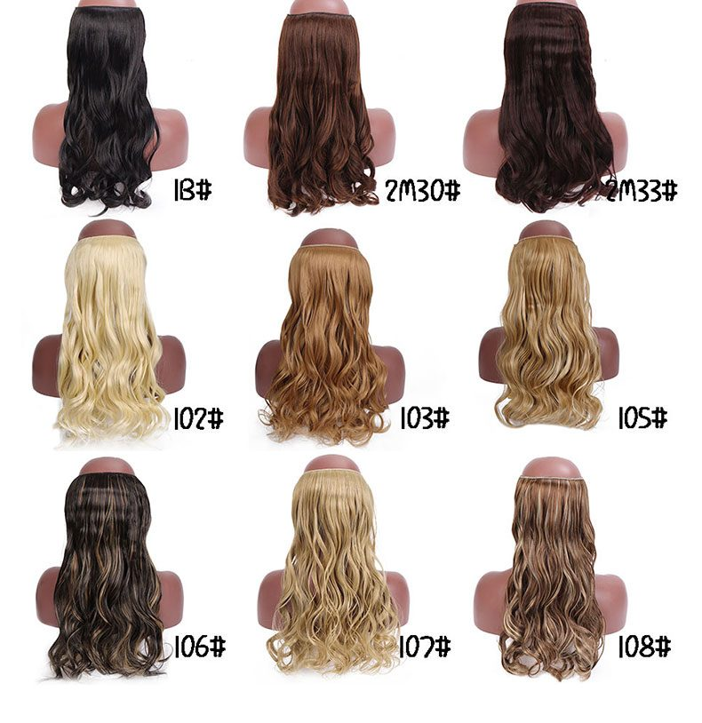 SHANGKE Synthetic Straight Halo Hair Extensions No Clip in Natural Hidden Secret False Hair Piece Fiber Synthetic Wavy Hair