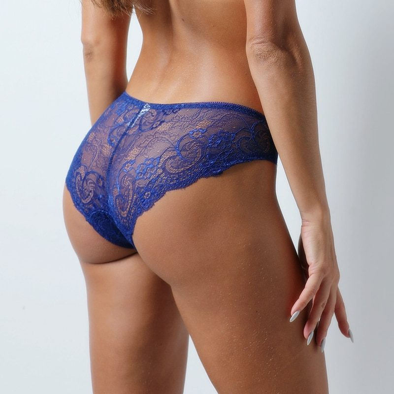 Fashion Sexy Panties Comfortable Briefs Exquisite Crotchless Shorts Solid Lingerie Sexy Hollow Out Underwear Women