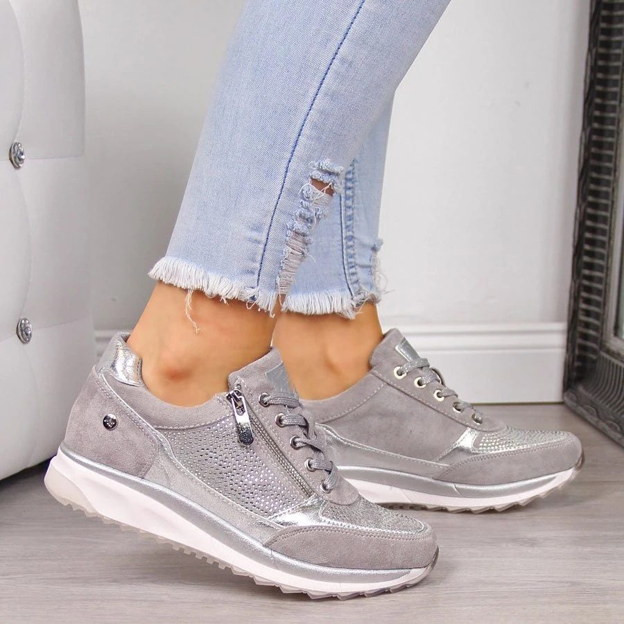 NEW Women's Wedges Sneakers Vulcanize Shoes Sequins Shake Shoes Fashion Girls Sport Shoes Woman Sneakers Shoes Woman Footwear