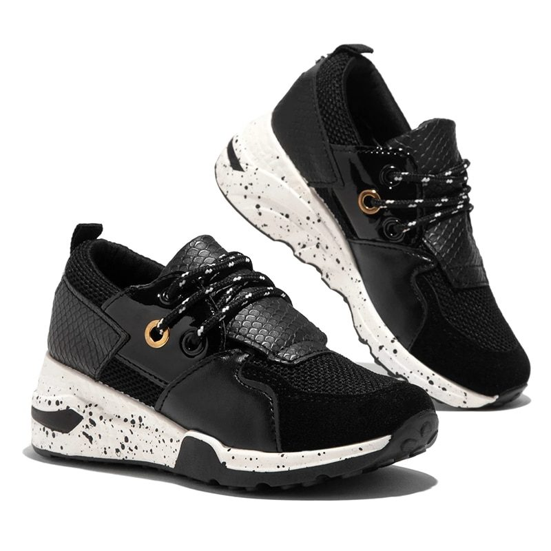 Women's Lacing Casual Shoes Breathable Ladies Sneakers Leopard Print Faux Fur Sneakers Thick Bottom Sports Shoes Women Sneakers