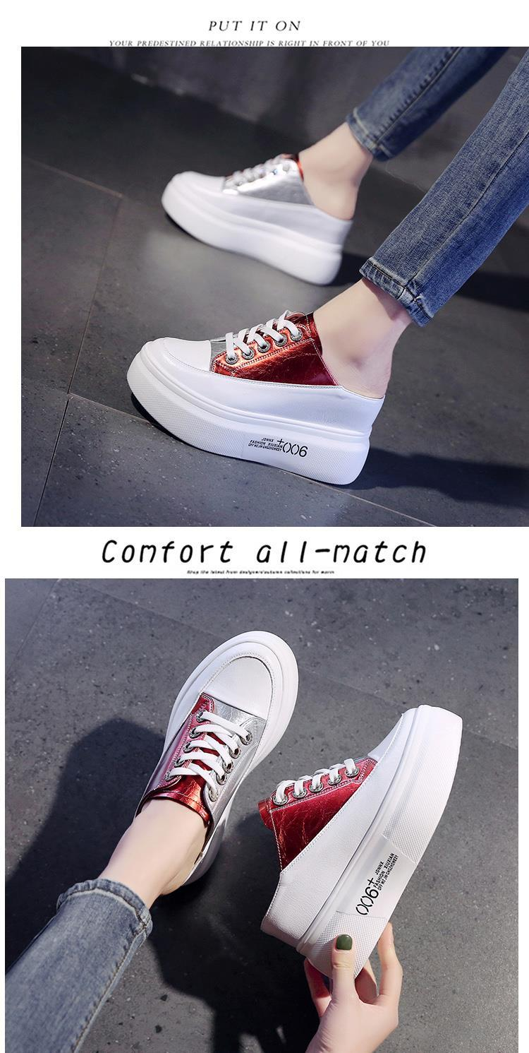 Spring New Color Combination Women Casual Shoes Fashion Comfortable Walking Thick-soled Shoes Increased Women Vulcanized Shoes