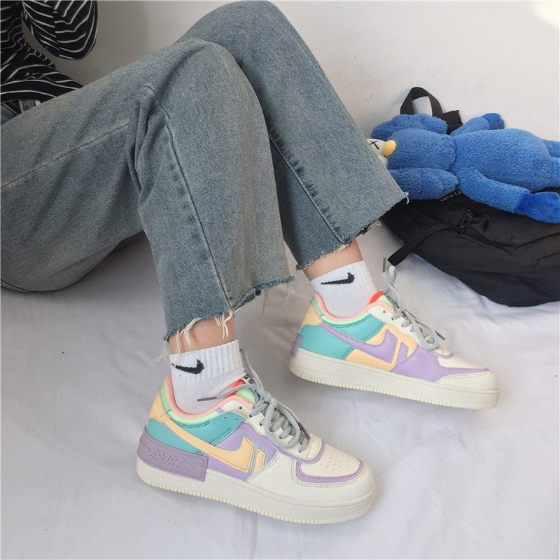 2020 new arrive women shoes sneaker high top pu leather lace up s white Sneakers Women Casual Vulcanized Shoes