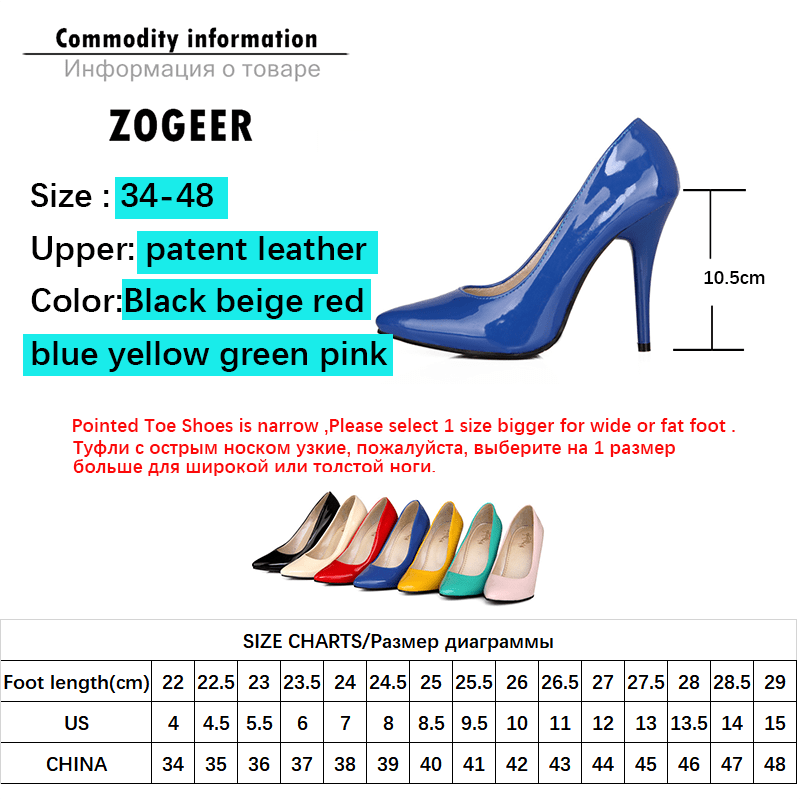 Fashion High Heels Pumps Woman Shoes Green Nude Red Blue Women's Heeled Shoes Party Office Wedding Shoes Ladies Large Size 44 47