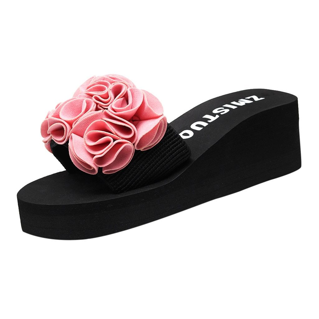 Slippers Women Summer Fashion Casual House Slippers Clip Toe Flip Flops Non-slip Wedges Beach Shoes Woman Zapatos De Mujer Тапки