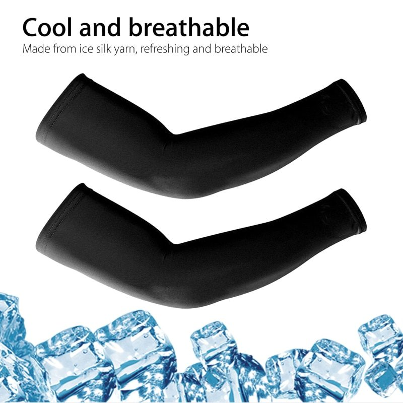4 Pairs Unisex Cooling Arm Sleeves Cover Cycling Running UV Sun Protection Outdoor Men Nylon Cool Arm Sleeves for Hide Tattoos