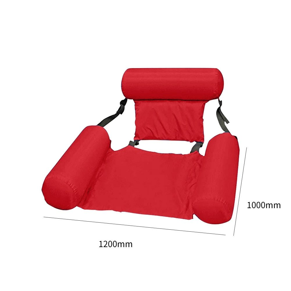 Summer Inflatable Chair Foldable Floating Row PVC Swimming Pool Water Hammock Air Mattresses Bed Beach Water Sport Lounger Chair