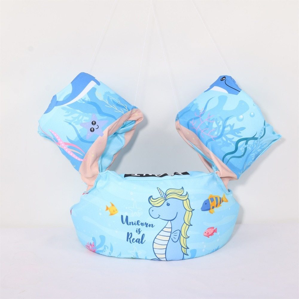 baby puddle jumper water sports swimsuit Float Cartoon Arm Sleeve Life Jacket Swimsuit Foam Safety Swimming Training Floating