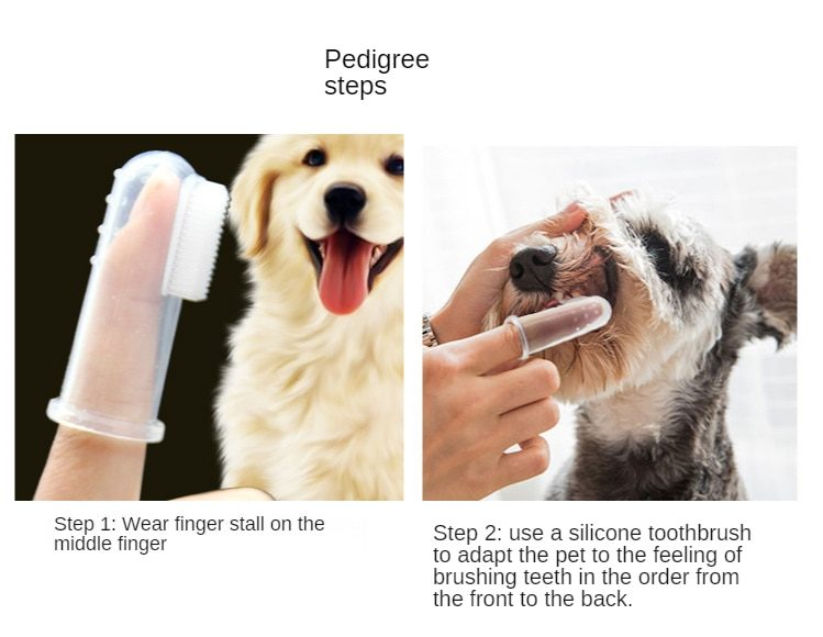 Super soft pet finger toothbrush cat and dog brush bad breath tartar dental care tool dog cat cleaning silicone pet supplies