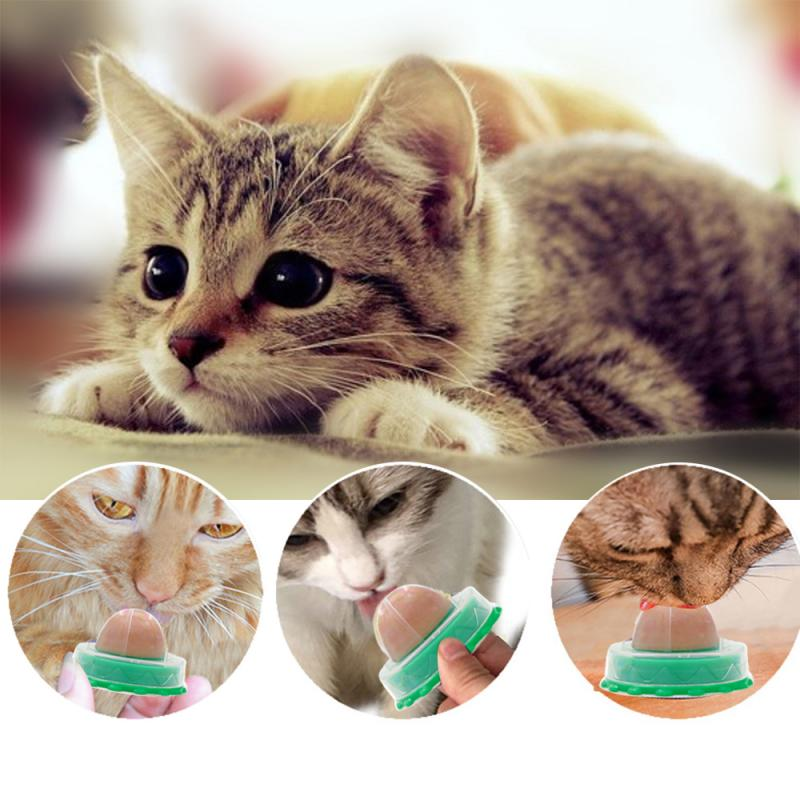 1PC Catnip Sugar Ball Cat Snacks Candy Licking Solid Nutrition Cat Energy Ball Toys Safe Natural Solid Catnip Keep Pet Cat Toys